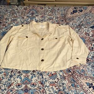 Cream colored linen jacket